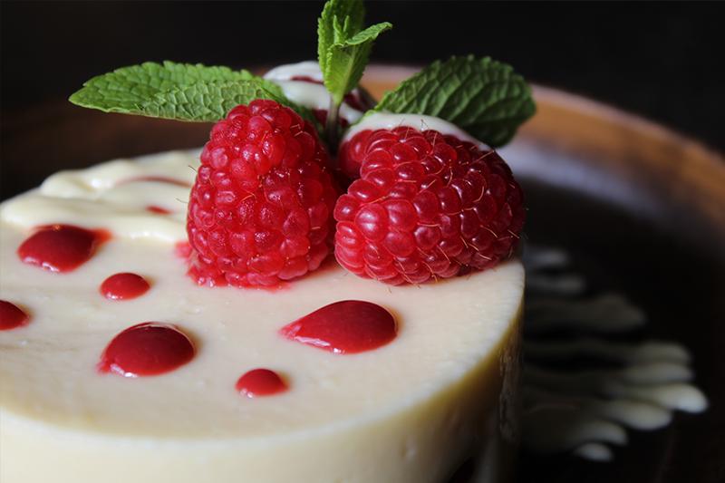 White Chocolate & Raspberry Cheesecake at The Crown Inn Elsenham